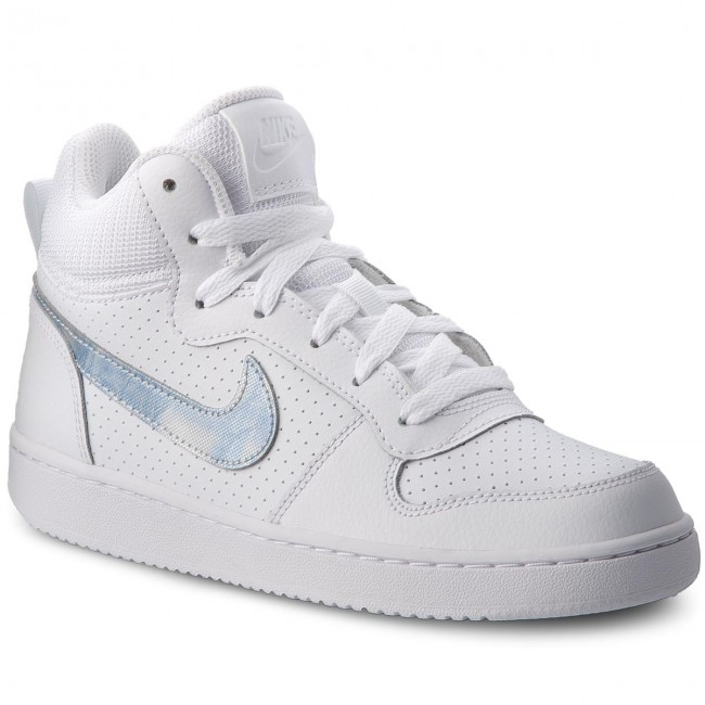 Boty NIKE - Court Borough Mid (GS) 845107 102 White/Royal Tint White