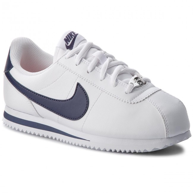 Boty NIKE - Cortez Basic Sl (GS) 904764 106 White/Neutral Indigo