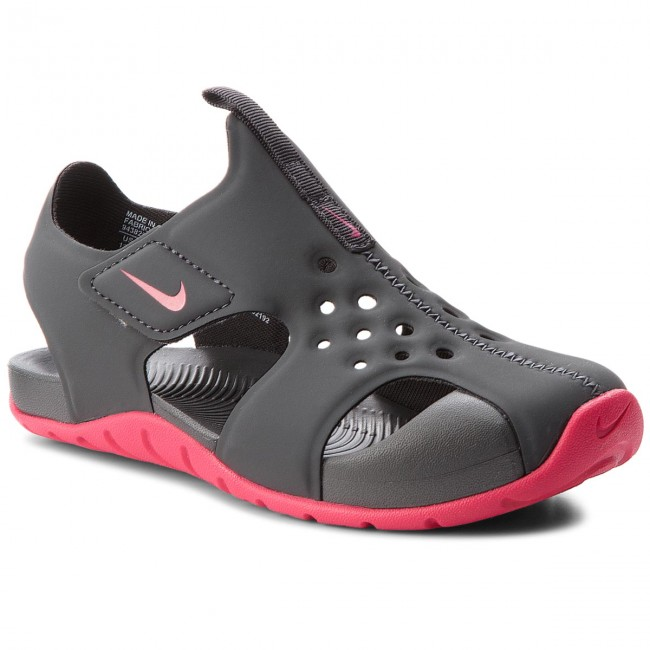 Sandály NIKE - Sunray Protect 2 (PS) 943828 001 Anthracite/Rush Pink