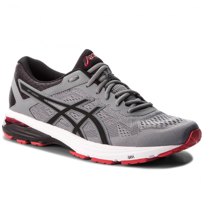 Boty ASICS - GT-1000 6 T7A4N Stone Grey/Black/Classic Red 1190