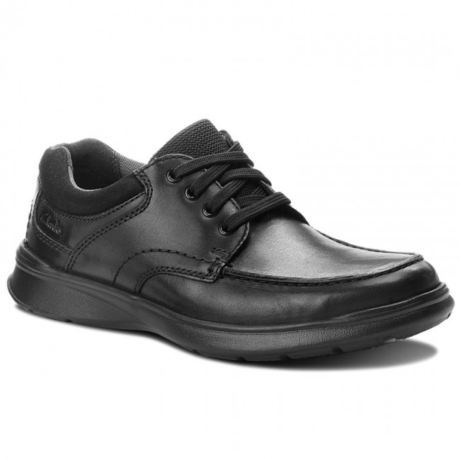 Polobotky CLARKS - Cotrell Edge 261373857  Blk Smooth Leather