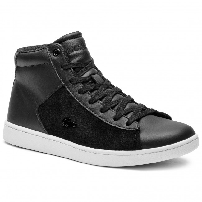 Sneakersy LACOSTE - Carnaby Evo Mid 318 1 Spw 7-36SPW0017312 Blk/Wht