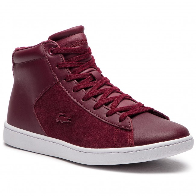 Sneakersy LACOSTE - Carnaby Evo Mid 318 1 Spw 7-36SPW00172H2 Burg/Wht