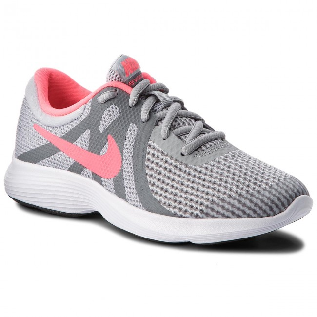 Boty NIKE - Revolution 4 (GS) 943306 003 Wolf Grey/Racer Pink/Cool Grey