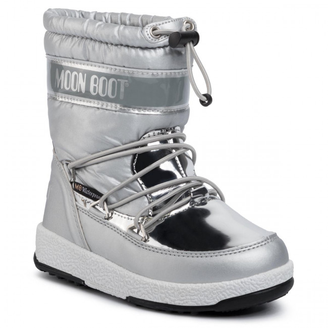 Sněhule MOON BOOT - Girl Soft Wp 34051700003 Silver
