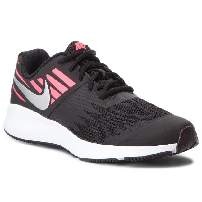 Boty NIKE - Star Runner (GS) 907257 004 Black/Metallic Silver