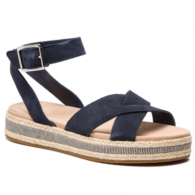 Espadrilky CLARKS - Botanic Poppy  261392544 Navy Interest