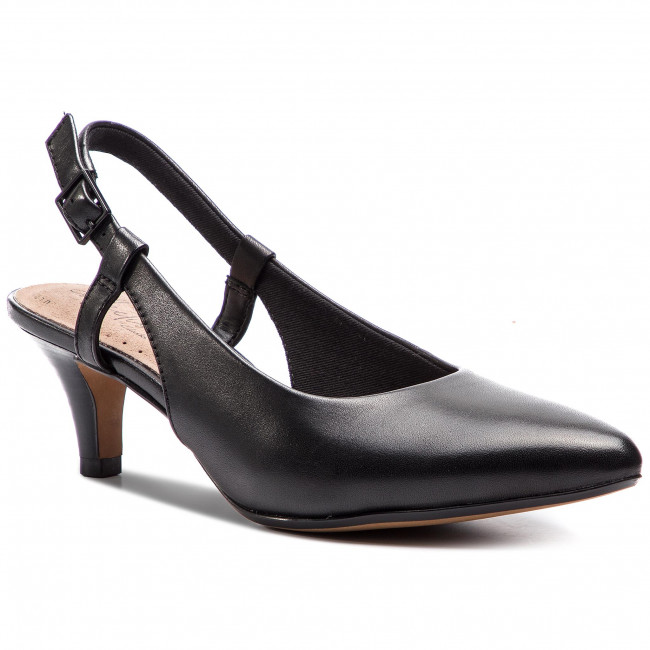 Sandály CLARKS - Linvale Loop 261400234 Black Leather