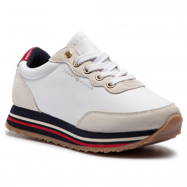 ddf327871 Sneakersy TOMMY HILFIGER - Tommy Retro Runner FW0FW03690 White 100 ...