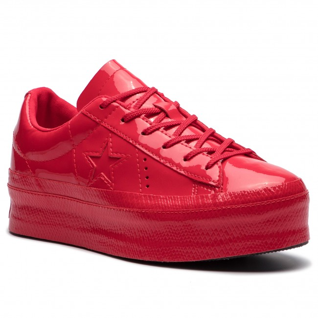 Sneakersy CONVERSE - One Star Platform Ox 562606C Cherry Red/Cherry Red/Black