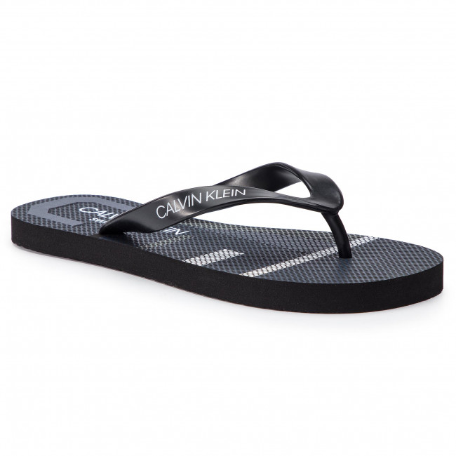 Žabky CALVIN KLEIN SWIMWEAR - Ff Sandals KM0KM00339 Blue Shadow 470