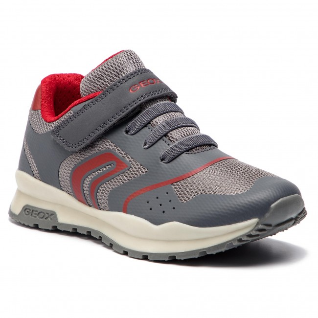 Sneakersy GEOX - J Pavel B. D J8415D 01454 C0051 S Grey/Red