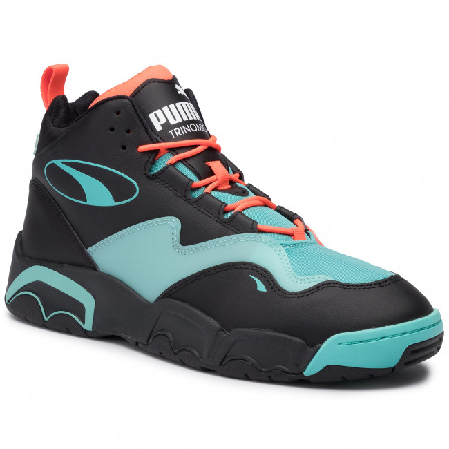 Sneakersy PUMA - Source Mid Buzzer 370598 01 P Blk/Nrgy Red/Blue Turquoise