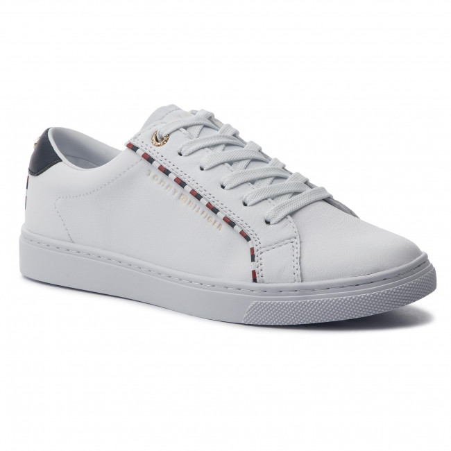 Sneakersy TOMMY HILFIGER - Corporate Detail Sneaker FW0FW04149 White 100