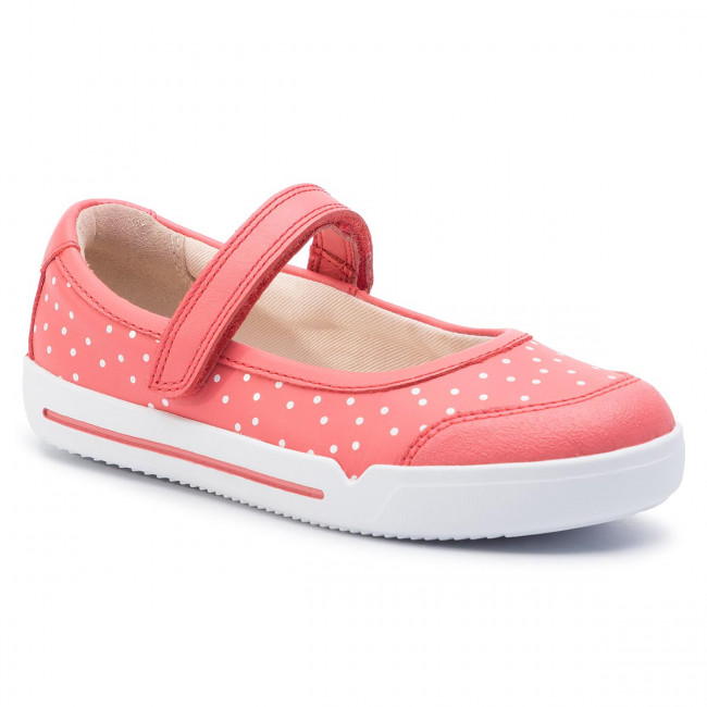 Polobotky CLARKS - Emery Halo K 261411567 Coral Leather
