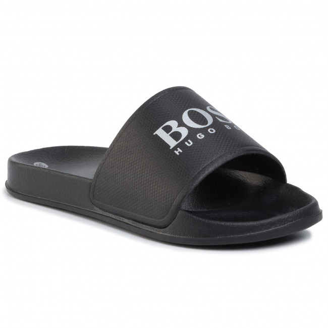Nazouváky BOSS - Slides With Contrast J29F73/M90 D Black Charcoal