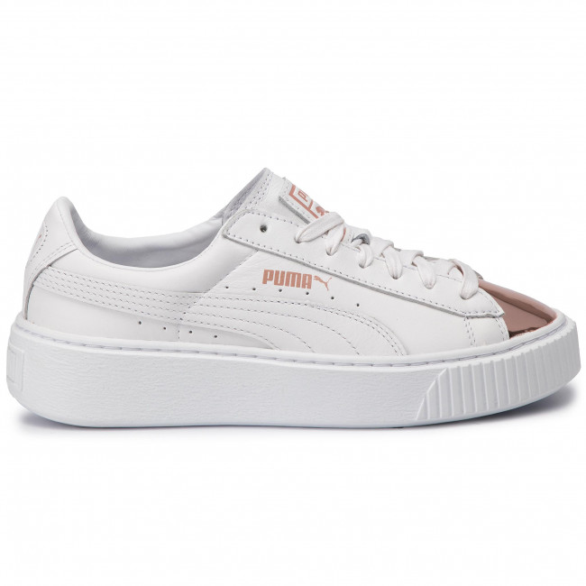 buy popular 615b8 32288 Sneakersy PUMA - Basket Platform Metallic 366169 03 Puma White/Rose Gold