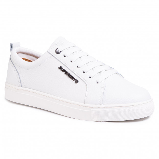 Sneakersy SUPERDRY - Truman Leather Lace Up MF110001A White 04C