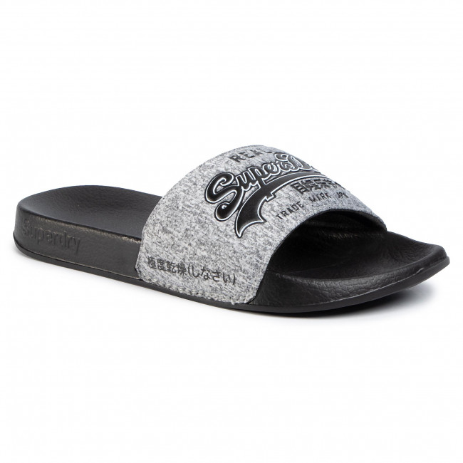 Nazouváky SUPERDRY - Vintage Logo Pool Slide MF310006A Dark Grey Grit KQZ
