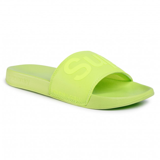 Nazouváky SUPERDRY - City Neon Pool Slide MF310020A Neon Green 27Y