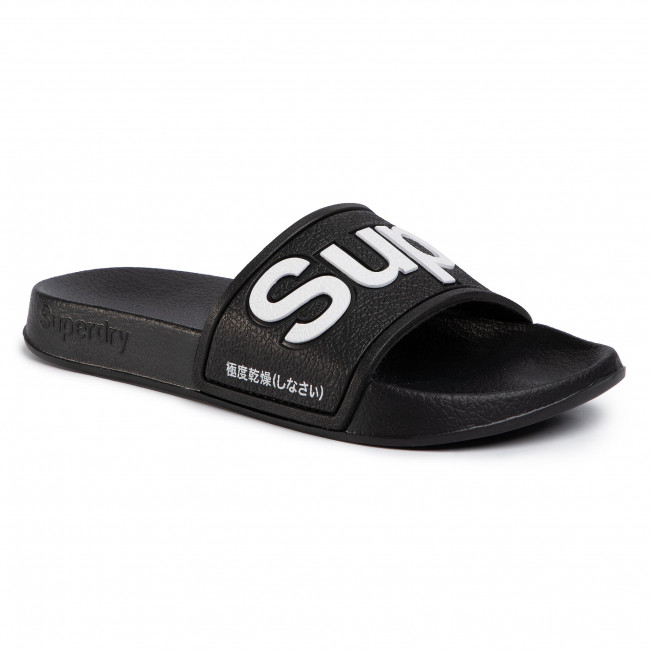 Nazouváky SUPERDRY - Eva Pool Slide WF300008A  Black 02A