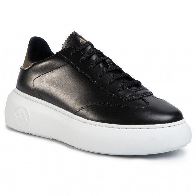 Sneakersy ARMANI EXCHANGE - XDX042 XV313 R488 Black/Lt.Gold