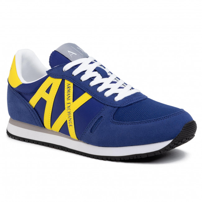 Sneakersy ARMANI EXCHANGE - XUX017 XV028 K493 Blue/Yellow