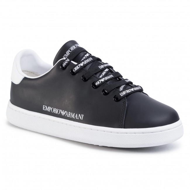Sneakersy EMPORIO ARMANI - X3X103 XL926 D611  Black/White