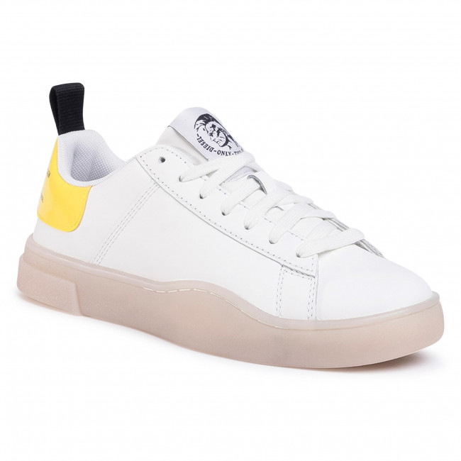 Sneakersy DIESEL - S-Clever Low Lace W Y02042 P3145 H1147  White/Yellow Fluo