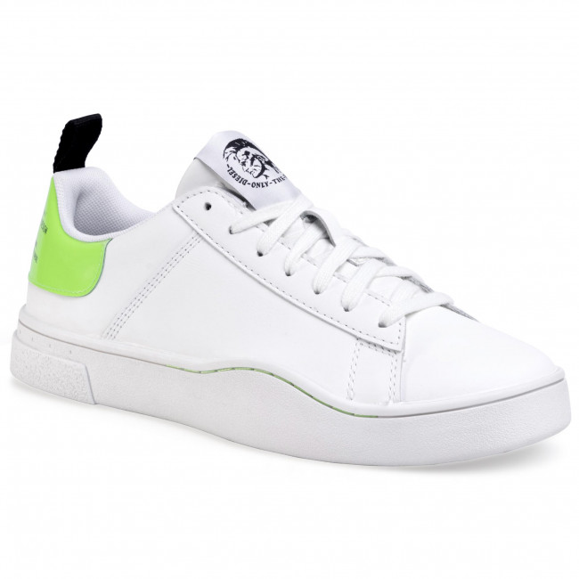 Sneakersy DIESEL - S-Clever Low Lace Y02045 P3145 H1142 White/Green Fluo