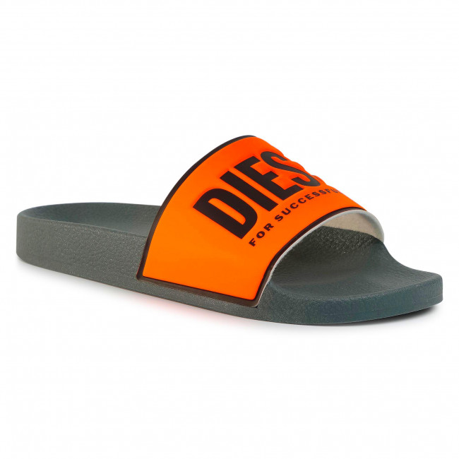 Nazouváky DIESEL - Sa-Valla Y01920-P3345 H1226 Orange Fluo/Black