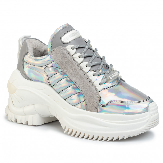 Sneakersy BRONX - 66266-RC BX 1586 Multi Metallic/Silver