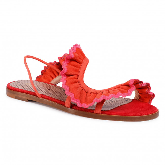 Sandály RED VALENTINO - TQ0S0D69 Coral/Fu C07