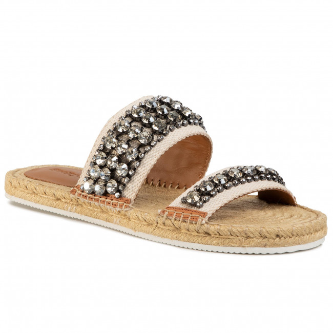 Espadrilky SEE BY CHLOÉ - SB34175A Ribbon 120 Latte/Strass Cry.Lgold