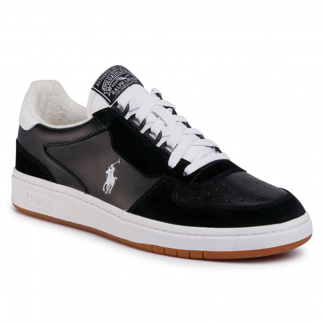 Sneakersy POLO RALPH LAUREN - Polo Crt Pp-Sk-Ath 809800457002 Black/White Pp