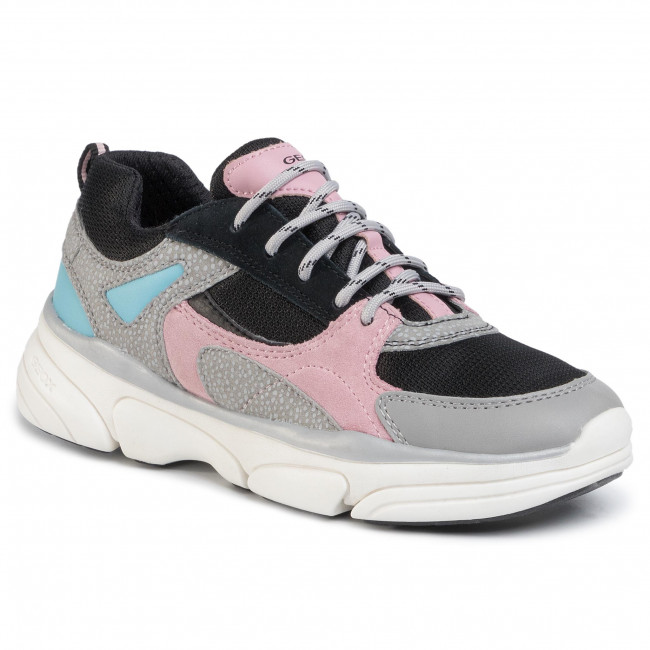 Sneakersy GEOX - J Lunare G. D J02BGD 0BC14 C1FK8 S Grey/Rose