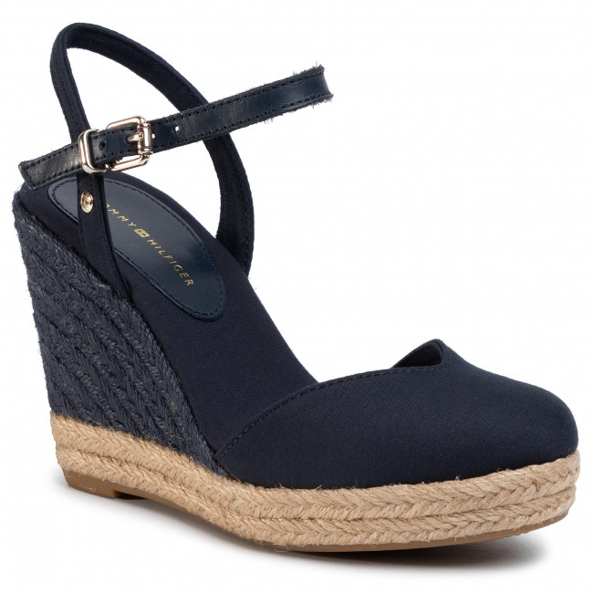 Espadrilky TOMMY HILFIGER - Basic Closed Toe High Wedge FW0FW04786 Desert Sky DW5