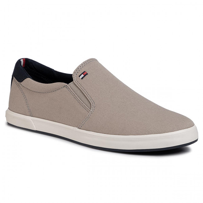 Tenisky TOMMY HILFIGER - Iconic Slip On Sneaker FM0FM00597 Stone AEP