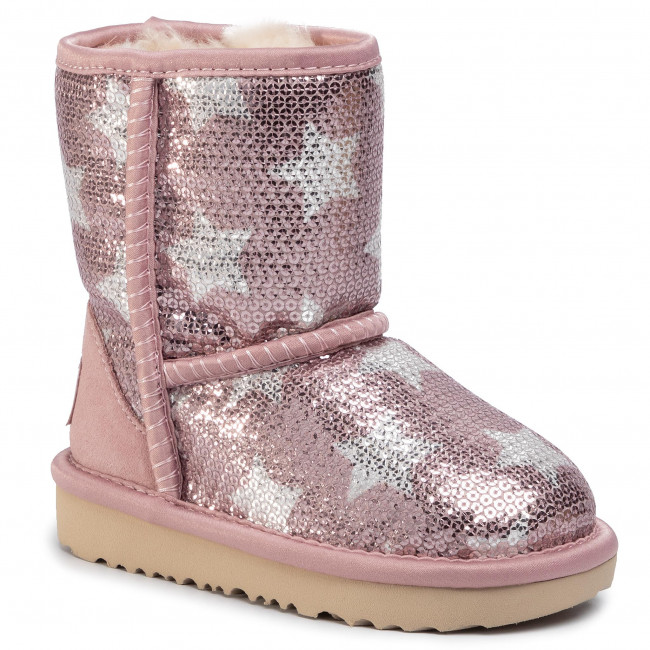 Boty UGG - T Classic Short II Sequin Star 1107988T Pcry