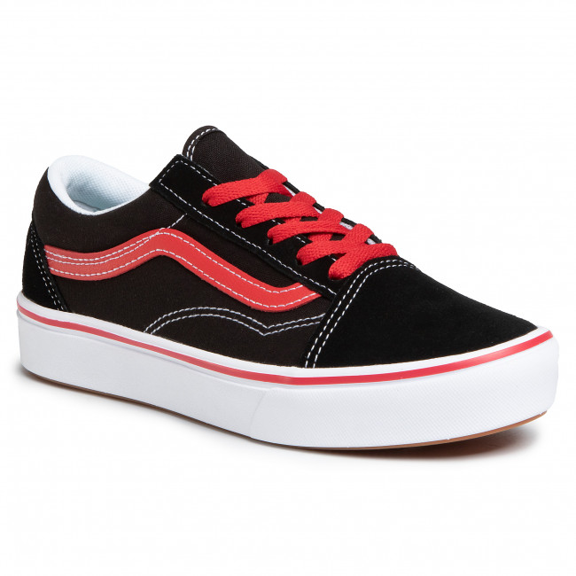 Tenisky VANS - Comfycush Old Sko VN0A4UHA4HJ1 (Pop) Black/Red