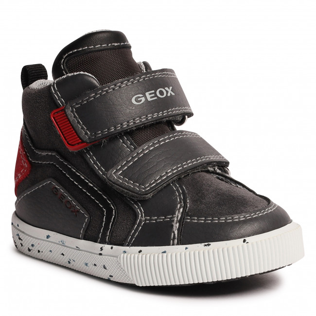Sneakersy GEOX - B Kilwi B. C B04A7C 022BU C9202 M Dk Grey/Dk Red