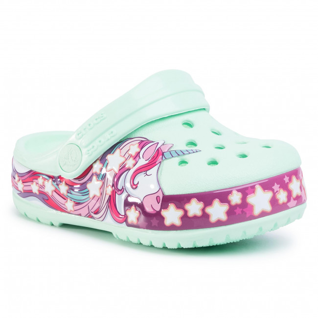 Nazouváky CROCS - Funlab Unicorn band Cg K 206270 Neo Mint