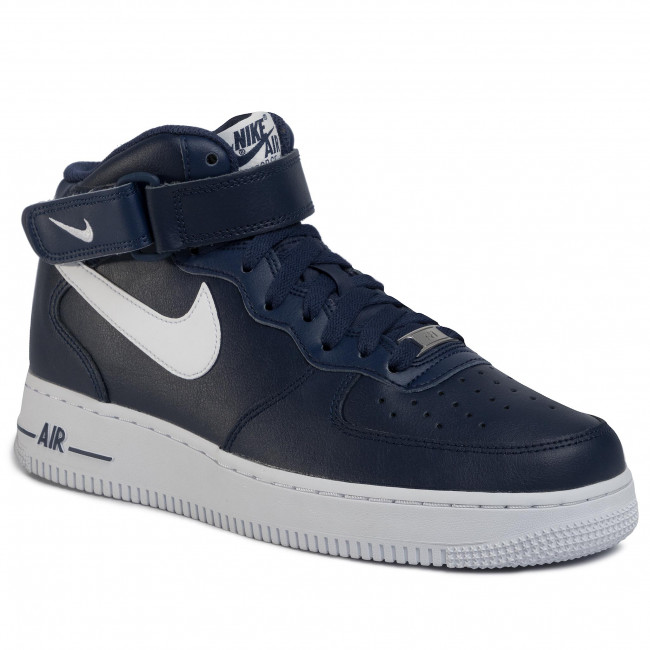 Boty NIKE - Air Force 1 Mid '07 An20 CK4370 400  Midnight Navy/White