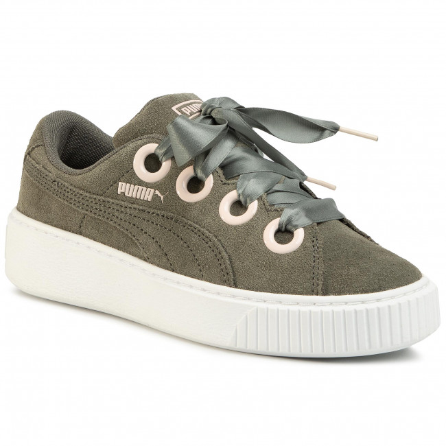 Sneakersy PUMA - Platform Kiss Sd Jr 367459 02 Castor Gray/Pearl/Puma White