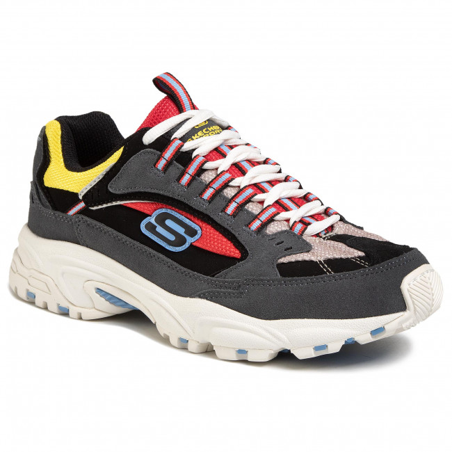 Sneakersy SKECHERS - Cutback 51286/CCRD Charcoal/Red