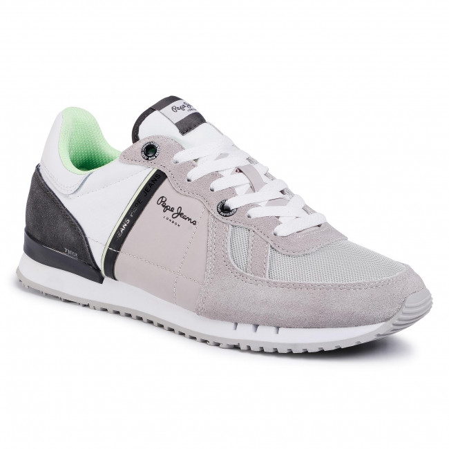 Sneakersy PEPE JEANS - Tinker Zero Ath PMS30612  Light Grey 905