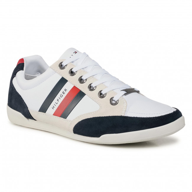 Sneakersy TOMMY HILFIGER - Corporate Material Mix Cupsole FM0FM02989 White YBR