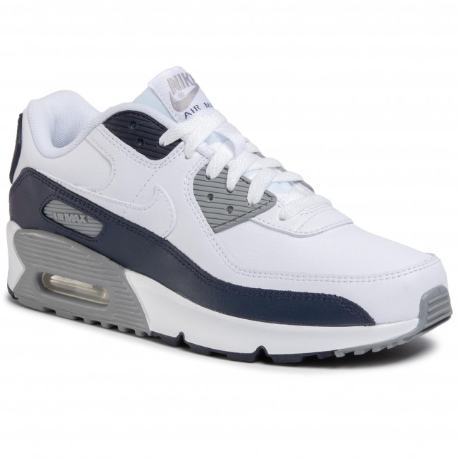 Boty NIKE - Air Max 90 Ltr (GS) CD6864 105 White/White/Particle Grey