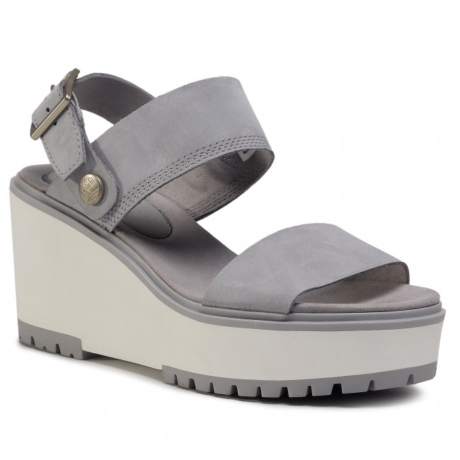 Sandály TIMBERLAND - Koralyn 2 Band Wedge TB0A26SQ050 Md Grey Nubuck