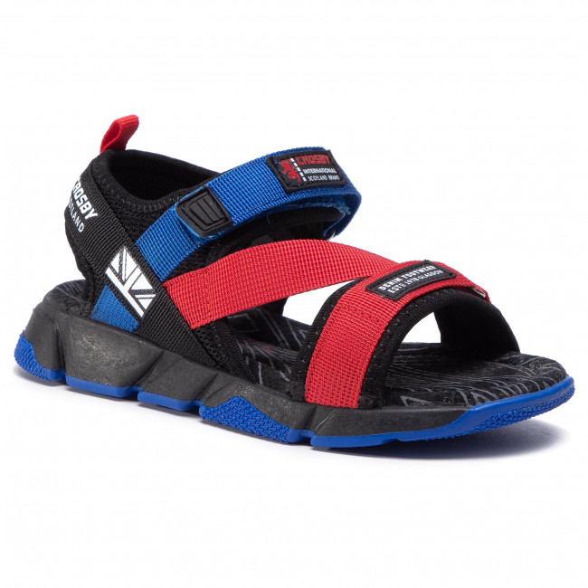 Sandály CROSBY - 207237/01-04 Black/Red
